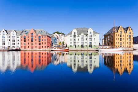 Alesund, Norway. Known for the art nouveau architectural style.