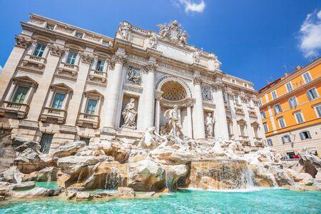 Trevi Fountain (Fontana di Trevi) most famous fountain of Rome, Italy. 写真素材