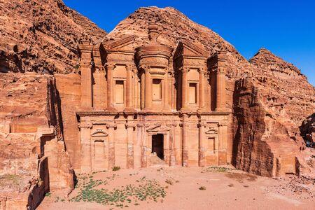 Petra, Jordan. El Deir (The Monastery) in Petra, the capital of the ancient Nabatean Kingdom. 写真素材