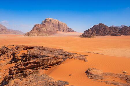 Wadi Rum Desert, Jordan. The red desert.