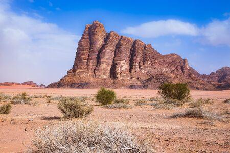 Wadi Rum Desert, Jordan. Seven Pillars of Wisdom
