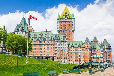 Quebec City, Canada. Frontenac Castle and Boardwalk.