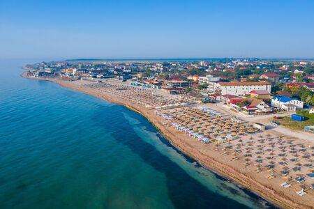 Vama Veche, Romania. Aerial view of Vama Veche beach at the Black Sea.