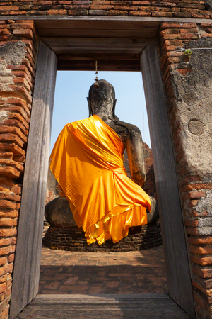 Behind of Buddha photo
