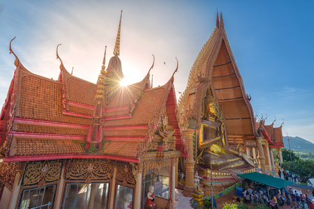 Wat tham sua near the City of Kanchanaburi in Central Thailand Editorial