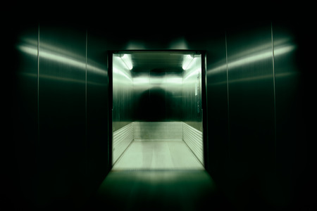 wraith: He was the soul or possess immortal souls in office building elevator doors., used long speed shutter blur and zoom effects.