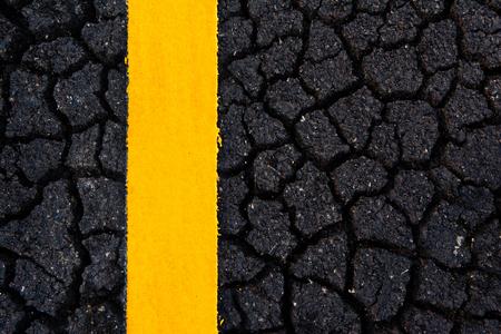 Asphalt road cracking texture
