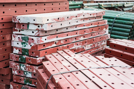 Steel formwork for construction after used