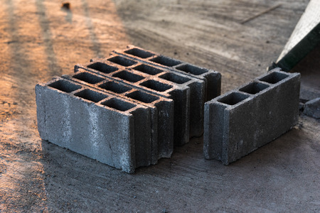 Concrete blocks or cement blocks for construction work