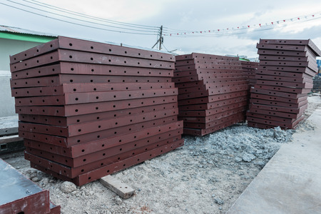 New steel formwork for construction Stock Photo