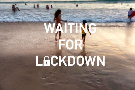 Tourism Business waiting for lockdown background concept. COVID-19 Affects, Social Distancing.