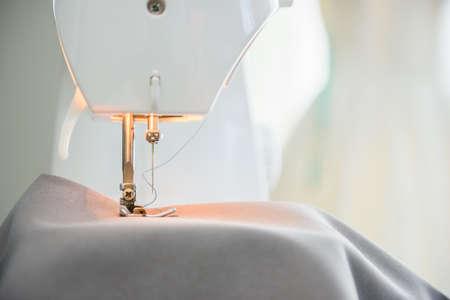 Close-up Presser-foot of sewing machine,