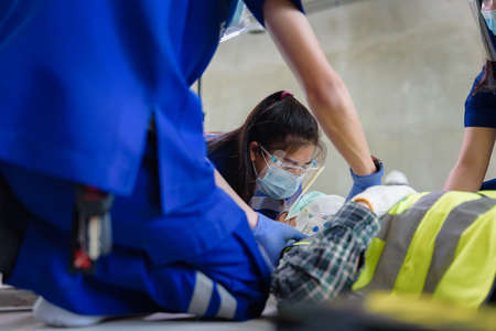 First aid for head injuries and Considered for all trauma incidents of worker in work, Loss of feeling or loss of normal movement and Loss of function in limbs, First aid training to transfer patient.