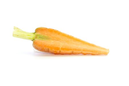 carots: Baby carrots flesh texture ingredient on white background