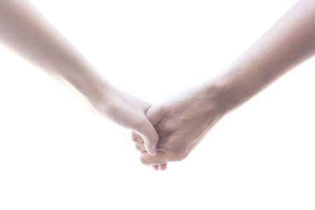 dedo me�ique: De la mano van de la mano aisladas sobre fondo blanco