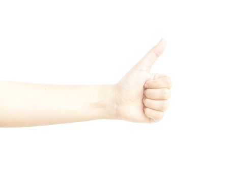 dedo meÑique: Dedo pulgar metáfora mano con molestar en el fondo blanco