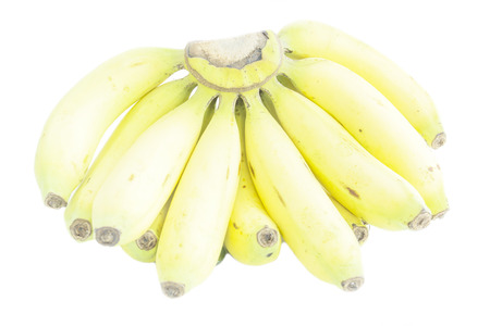 ripened: Over ripened bananas bunch fruit on white background