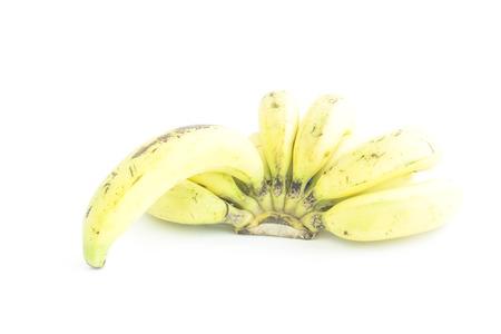 ripened: Over ripened bananas nature color skin on white background