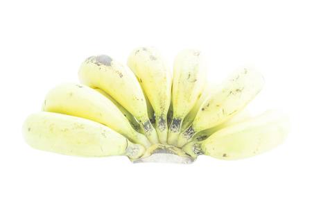 ripened: Over ripened bananas dark skin on white background