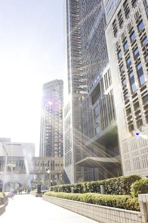 metropolitan: Sunshine with highrise tokyo metropolitan building in Japan Editorial