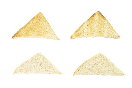 wheat toast: Sandwich shape whole wheat toast and fresh on white background