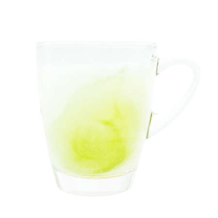 Refreshments: Limonade tonic  refreshment on glass and white background