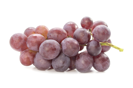 red grape: Red grapevine fresh juicy fruit on white background