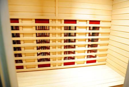 The infrared sauna to improve the health and beauty. Close up Zdjęcie Seryjne