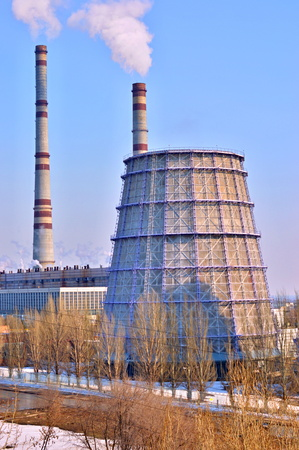 thermal power plant in Samara, Russia Stock Photo