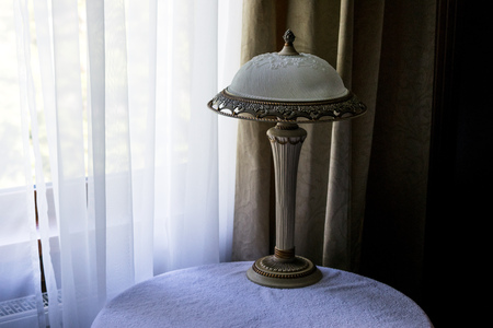 lamps and fixtures with white frosted glass