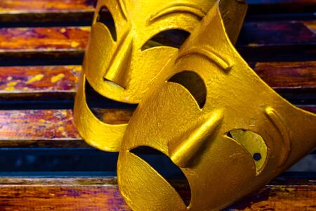 decorative symbolic theatrical masks - Comedy and tragedy
