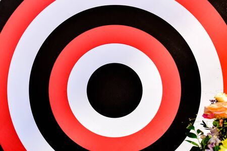 stylized wooden target for holiday decoration flowers