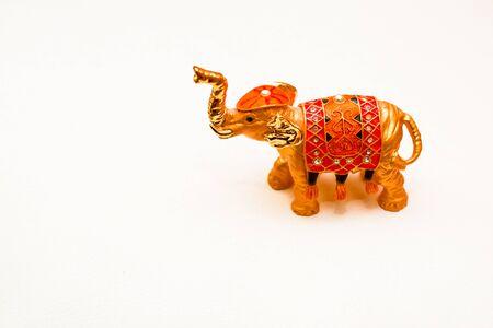 miniature figurine elephant made of semi-precious materials Stock Photo