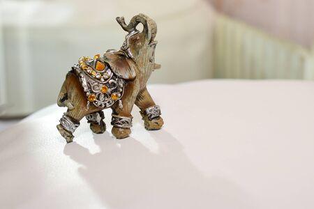 miniature figurine elephant made of semi-precious materials