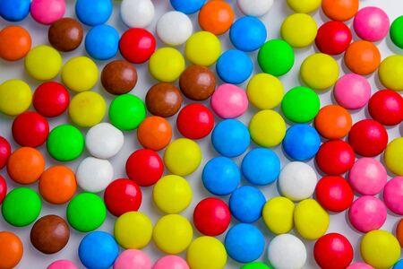 candy or pills colored in bright colors Standard-Bild