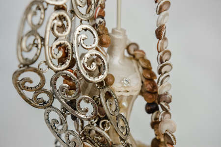 jewelry made of base stones or silver in different combinations