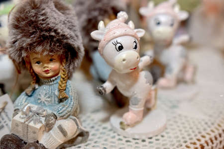 children's toys of New Year's theme for interior decoration