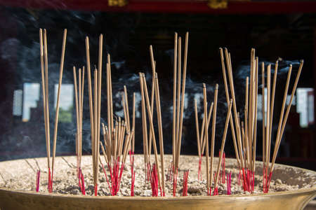 altar: Incense burning at the altar Stock Photo