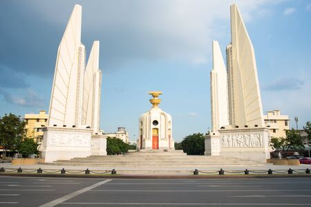 democracy Monument: Democracy Monument with blue sky. Editorial