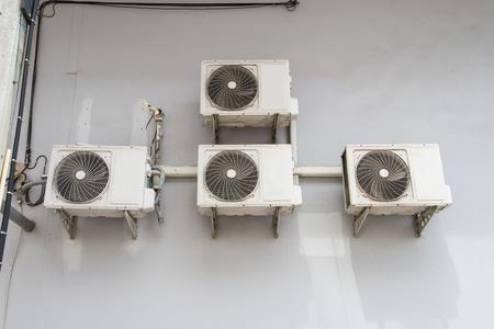 compresor: El compresor de aire muchas máquinas. Foto de archivo