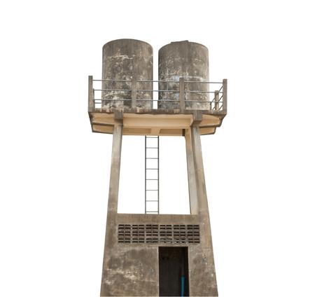 storage tank: Water storage tank isolated background