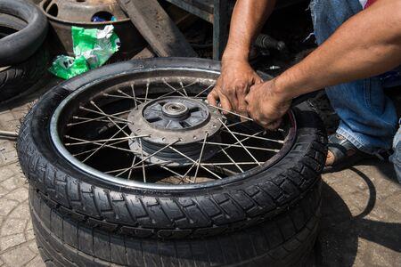 inner tube: Tire inner tube motorcycle.