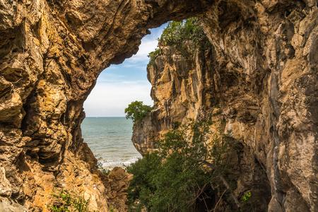 khan: Sea caves, prachuap khiri Khan province Stock Photo