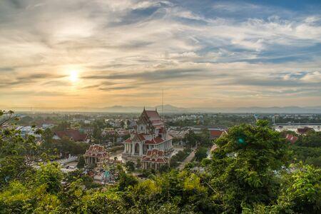 khan: View of Downtown Prachuap Khiri Khan District from Thailand