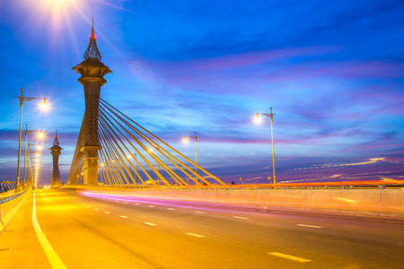 nonthaburi: Nonthaburi bridge with a beautiful.