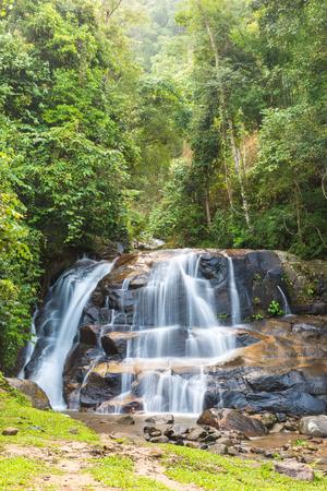 Mae Ra Merng Waterfall - Mae Moei National Park, Tak Province Thailand,defocused Stock Photo