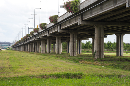 cement bridge infra structure Standard-Bild