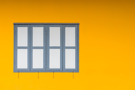 Yellow wall with windows