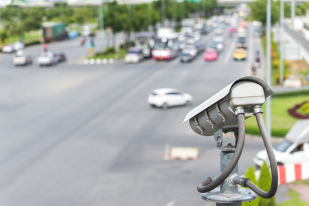 security CCTV camera or surveillance system with road highway