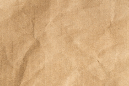 Recycle brown paper crumpled texture,Old paper surface for background Banco de Imagens